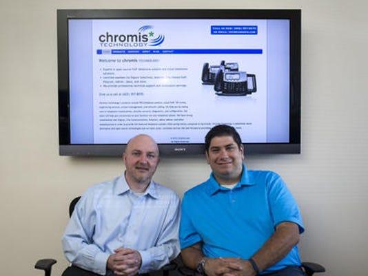 Chromis Technology founders Zach Garcia and Jonathan Rusk