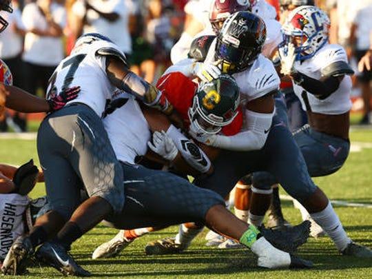 Snapple Bowl XXV was held at Woodbridge High School's Nicholas A. Priscoe Stadium on Thursday, July 19, 2018.