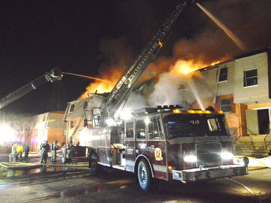 A fire at Woods Edge apartments in Edgemoor caused heavy damage to a building and has been ruled an arson.