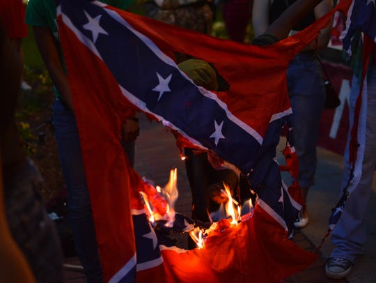 Tallahassee residents marched to the capitol on Thurs.,