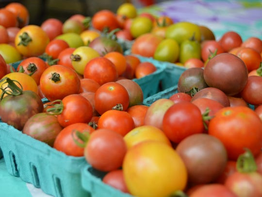 Fresh tomatoes at the Rehoboth Beach Farmers Market.