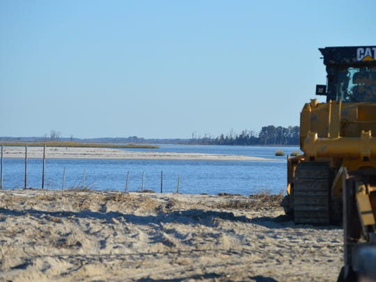 A string of breaches at Fowler Beach will be filled