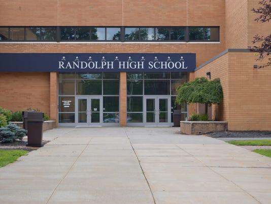 Randolph High School sign