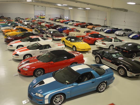These are some of the Chevrolet Corvettes in Mark Pieloch's muscle car collection.