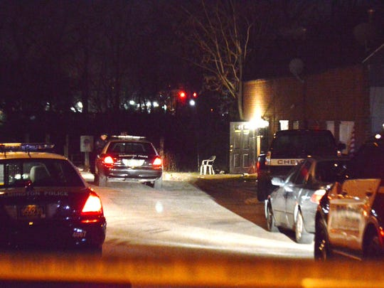 Police investigate a shooting on Locust Street in Wilmington on Wednesday.