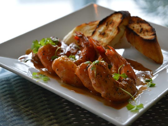 Barbecue shrimp at The Buttery in Lewes.