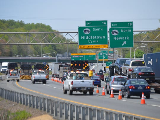 In 2016, a series of road inspections backed up traffic on I-95 southbound near Del. 896.
