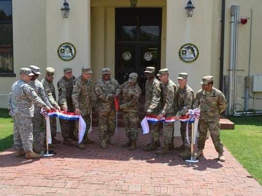 US Army Recruiting Battalion move into a new building on Maxwell following a ribbon cutting Thursday.