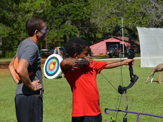 During their week at Camp Victory, kids are encouraged to try different activities.