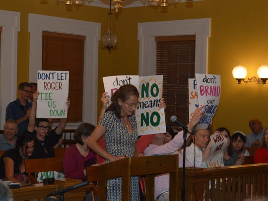 Cold Spring resident Kathleen Foley, spearheaded the petition drive to make public the Ailes donation agreement, addressed the County Legislature Tuesday night.