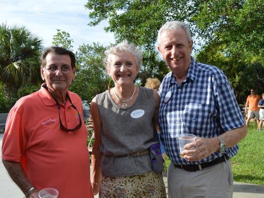 Rotary Club Vero Beach Sunrise Brian Carman with Rotary Club of Vero Beach Kitty & Stuart Kennedy