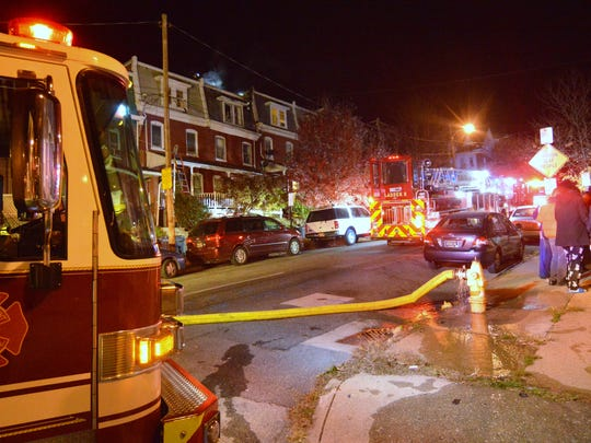 A Wilmington house fire along North Franklin Street displaced nine people Sunday morning.