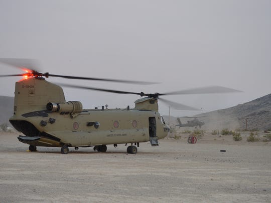 Task Force Iron Dragon consisted of aviators from Fort Bliss and Fort Riley, Kan.