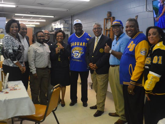 Grambling and Southern fans celebrate with each other at the Bayou Bash Nov. 17 at Clairese's restaurant.