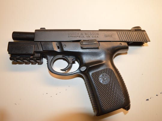 A handgun was recovered by the Fort Myers Police Department during a traffic stop Wednesday.
