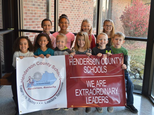 Spottsville Elementary November leaders of the month kindergarten-second grade are, front row from left: Cayde Peay, McKinley Black, Isaac Hudnall, Emma Druin, Conner Cardwell and Garrison McCord. Back row: DeArion Stewart, Jordyn Gobin, Hannah McCracken and Chloe Hallmark.