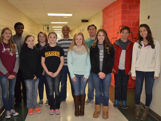 Henderson County November students of the month