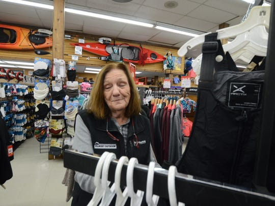 Store Manager Vickie Osborne of Ramsey Outdoor said they sold lots of ski pants and bibs right after the snow. Many people don't plan in advance when it comes to cold weather.