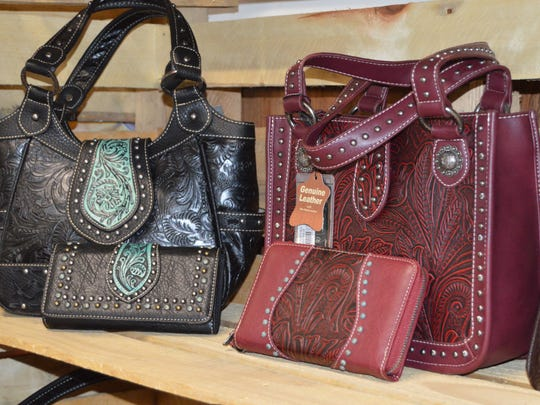 Western-style purses are available for purchase at The Feed Bag.