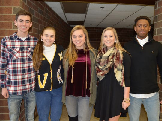 Henderson's junior homecoming court are, pictured from left: Daxx Sugg, Caycee Chaykowsky, Ann Logan, Aleksy Odell and  JaBryant Vincent. Not pictured: JT Polivick.