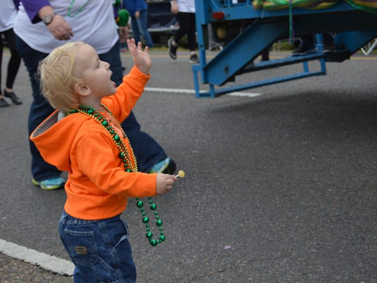 Scenes from the Town of Ball Mardi Gras parade on Feb.