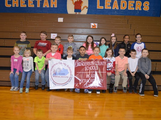 Chandler Elementary February leaders of the month