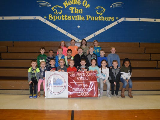Spottsville Elementary February leaders of the month