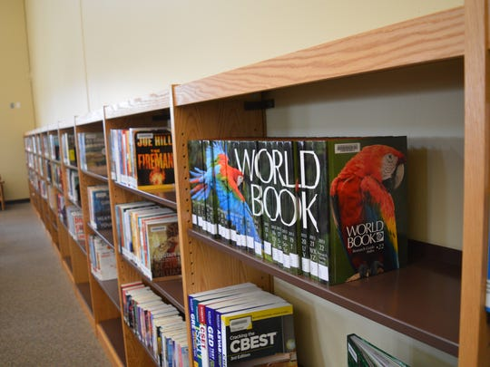Materials available at the Farmersville library, which opened on Saturday.