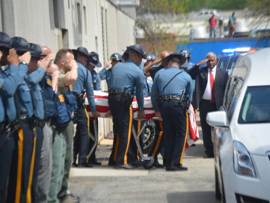 The body of Cpl. Stephen J. Ballard, an 8?-year veteran