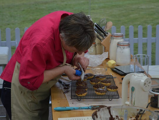 Val works on a Jaffa Cake on 'The Great British Baking