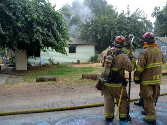 Visalia firefighters responded to a home fire on Road