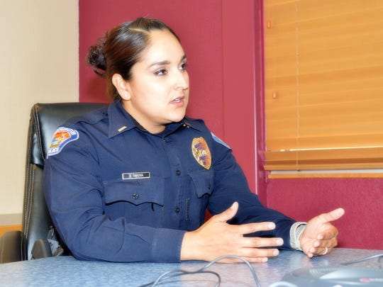 Sierra Tafoya recently became the Farmington Police Department's first female lieutenant in about 18 years.