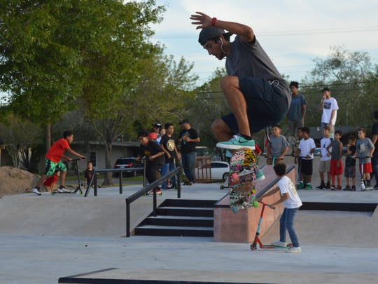 Kingsville's new skate park opened its ramps to skaters Friday.