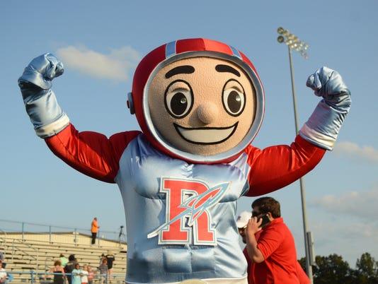 Ridgedale Rockets football mascot
