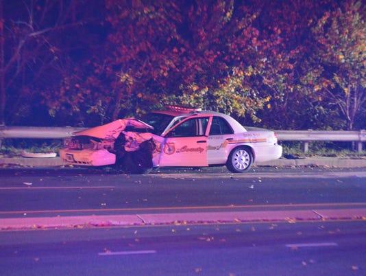 Officer crash