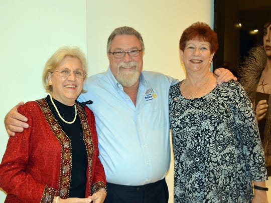 Honorees for Outstanding Group Supporting Philanthropy, representing Rotary Club of Vero Beach Sunrise, Carol Ludwig, Steve Kepley and Linda Scott.