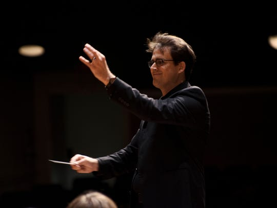 Brian Dowdy conducts the St. Cloud Symphony Orchestra.