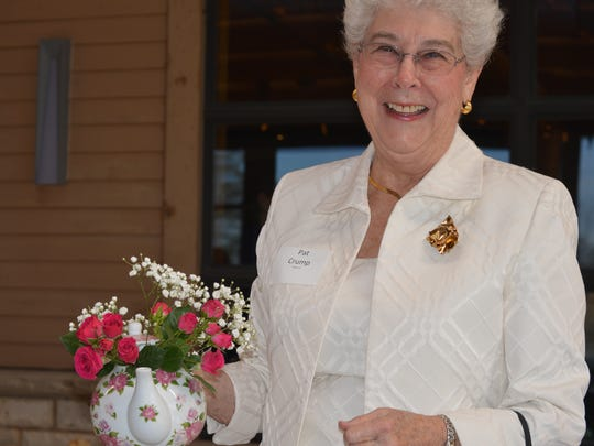 Pat Crump of Brookfield displays her beautiful raffle