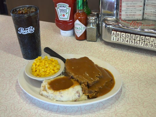 The meatloaf diner at Chase's Diner.