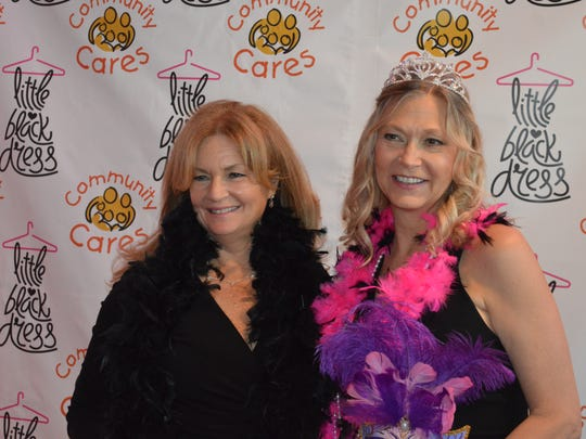 Putnam County Executive MaryEllen Odell and County Legislator Amy Sayegh at the Community Cares LIttle Black Dress party on May 9.