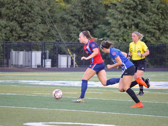 Lansing United women's action