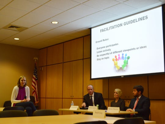 Sarah Gray, Clay Schulz, Melissa Langbehn and Robert Mentzer sat on the panel for the forum.