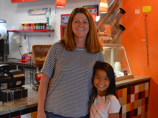 Lisa Elliott owns RJ Ice Cream in Elm Grove. Her daughter,