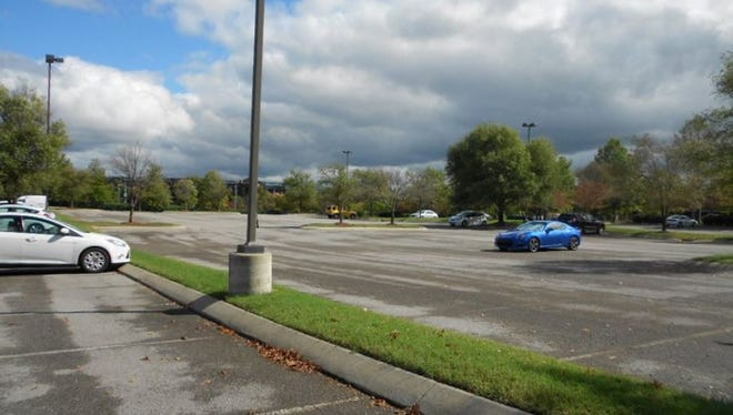 The parking lot at 652 Grassmere Park, which an Eakin Partners affiliate just bought.