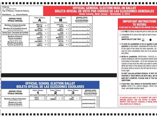 Union County clerk redesigns election ballots