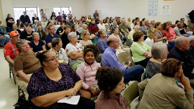 A large crowd was on hand to hear State Attorney General Brad Schimel speak on the issues involved in substance abuse during a visit to the 1907 club Saturday Sept. 26, 2015, in Sheboygan.