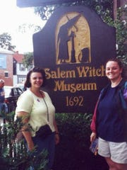 Pia Farrenkopf, left, and her friend, Joan Gill Strack, vacationed in Salem, Mass. in 2000.