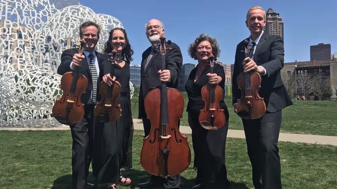 The Civic Music Association in Des Moines, Iowa, has long presented free summer concerts by the Belin Quartet. The association received a $10,000 grant in 2019 from A Community Thrives.