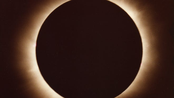 Total eclipse shot in 1979 in Winnipeg by amateur astronomer Mark Manner.