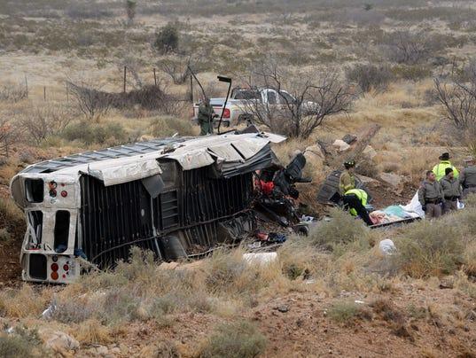 AP APTOPIX FATAL WRECK PRISON BUS A USA TX